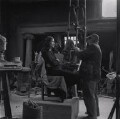 Jacob Epstein sculpting Elizabeth Keen, by Ida Kar - NPG x136760
