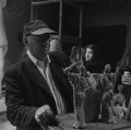 Jacob Epstein sculpting Elizabeth Keen, by Ida Kar - NPG x136761
