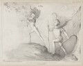 A Scene from Faust (John Russell, 1st Earl Russell; Sir Robert Peel, 2nd Bt), by John ('HB') Doyle, printed by  Alfred Ducôte, published by  Thomas McLean - NPG D41560