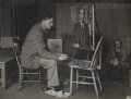Henry Lamb painting his portrait of L.P. Hartley, by Unknown photographer, for  The Times - NPG x137088