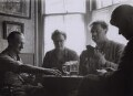 Dylan Thomas; Ebie Williams; Ivy Williams and her brother Billy, by Rollie McKenna - NPG x137169