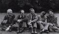 David John Murray Wright; Anthony Cronin; John Clive ('J.C.') Hall; John Smith; Dannie Abse, by Rollie McKenna - NPG x137190
