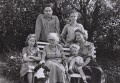 Aeronwy Thomas-Ellis (née Thomas); Dylan Thomas; Florence Thomas (née Hannah); Colm Thomas; Llewelyn Thomas; Caitlin Macnamara Thomas, by Rollie McKenna - NPG x137222