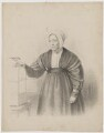 Portrait of a lady wit (Unknown Sitter), possibly after Michael Angelo Wageman - NPG D42558