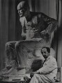 'Oscar Nemon with his statue of Sigmund Freud', for Camera Press: London: UK - NPG x184148