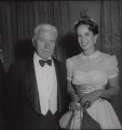 Charlie Chaplin; Oona Chaplin (née O'Neill), by Francis Goodman - NPG x195068