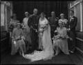 Edward Russell Gibson, 3rd Baron Ashbourne, Reta Frances Manning (née Hazeland), Lady Ashbourne and wedding party, by Lafayette (Lafayette Ltd) - NPG x184617