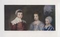 The three eldest children of Charles I (King Charles II; Mary, Princess Royal and Princess of Orange; King James II), after Sir Anthony van Dyck - NPG D42689
