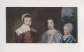 The three eldest children of Charles I (King Charles II; Mary, Princess of Orange; King James II), after Sir Anthony van Dyck - NPG D42689
