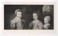 The three eldest children of Charles I (King Charles II; Mary, Princess Royal and Princess of Orange; King James II), after Sir Anthony van Dyck - NPG D42690