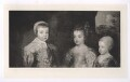 The three eldest children of Charles I (King Charles II; Mary, Princess of Orange; King James II), after Sir Anthony van Dyck - NPG D42690