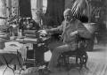 Sir William Schwenck Gilbert, by Unknown photographer, copied by  Walter Stoneman - NPG x188193