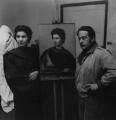 Pietro Annigoni and an unknown woman, by Francis Goodman - NPG x195105