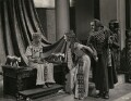 Anthony Harvey as Ptolemy; Vivien Leigh as Cleopatra; Cecil Parker (Cecil Schawbe) as Britannus in 'Caesar and Cleopatra', by Wilfrid Newton - NPG x137522