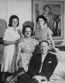 Hugh Todd Naylor Gaitskell with his family, by Associated Press - NPG x137687