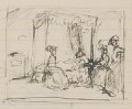 Unknown scene: invalid in bed with three female visitors, by Henry Tonks - NPG 3072(1a)