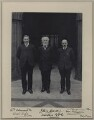 William Adamson; Keir Hardie; Thomas Richardson, by Sir (John) Benjamin Stone - NPG x137724