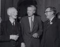 William Henry Beveridge, 1st Baron Beveridge; Jo Grimond; Charles Frank Byers, Baron Byers, by Press Association Photos - NPG x184234
