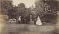 Mrs Collinson; Mrs A. Fisher; Lieutenant Eden; Lieutenant Anstey; Miss Eden, by Unknown photographer - NPG Ax137937