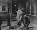 Vivien Leigh as Cleopatra, Claude Rains as Julius Caesar and Robert Adams as the Nubian Slave in 'Caesar and Cleopatra', by Wilfrid Newton - NPG x137975