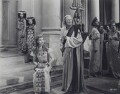 Vivien Leigh as Cleopatra and Ernest Thesiger as Theodotus in 'Caesar and Cleopatra', by Wilfrid Newton - NPG x137978
