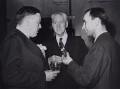 Percy Cudlipp; Walter McLennan Citrine, 1st Baron Citrine; A. Zinchenko, by Jack Esten, for  Daily Herald - NPG x184284