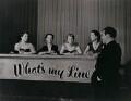 Jill Craigie; Marghanita Laski; Joy-Frederike Victoria Adamson; Elizabeth Allan and Eamonn Andrews, by Unknown photographer - NPG x138016