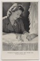 'Princess Elizabeth with her infant son Prince Charles' (Queen Elizabeth II; Prince Charles), by Cecil Beaton, published by  Raphael Tuck & Sons - NPG x138035