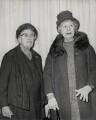 Agatha Christie; Dame Edith Evans, by Press Association Photos - NPG x184311