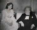Sarah Churchill; Winston Churchill, by Planet News - NPG x184313