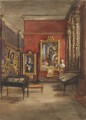 Eastern end of the Lower Gallery at South Kensington, by Sir George Scharf - NPG 2747b