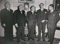 Renée Mayer; Winston Churchill; Georges-Augustin Bidault; Anthony Eden, 1st Earl of Avon; Robert Buron, by International News Photos - NPG x194027