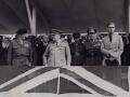 Winston Churchill inspecting the Victory Parade, Berlin, by Keystone Press Agency Ltd - NPG x194064
