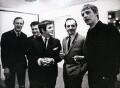 Don Moss; Keith Fordyce; Alan Freeman; David Lewis Jacobs; Simon Dee, by Unknown photographer - NPG x194145