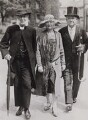 James Went; Elsie Clara Oppenheim (née Hopkins); Edward Phillips Oppenheim, by Keystone Press Agency Ltd - NPG x194153