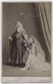 William Wybert Rousby as King Lear; Clara Marion Jessie Rousby (née Dowse) as Cordelia in 'King Lear', by London Stereoscopic & Photographic Company - NPG x197152