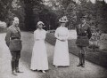 King George V; Elisabeth of Bavaria, Queen of Belgium; Queen Mary; Albert I, King of the Belgians, by Unknown photographer - NPG x194271