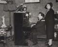 J.B. Priestley; Mae Bacon, by Keystone Press Agency Ltd - NPG x194310