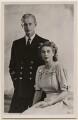 Prince Philip, Duke of Edinburgh; Queen Elizabeth II, by Dorothy Wilding, published by  Raphael Tuck & Sons - NPG x197281