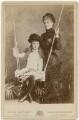 Edith Amelia (née Ward), Lady Wolverton; Georgina Elizabeth Ward (née Moncreiffe), Countess of Dudley, by W. & D. Downey - NPG x197296