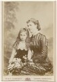 Edith Amelia (née Ward), Lady Wolverton; Georgina Elizabeth Ward (née Moncreiffe), Countess of Dudley, by W. & D. Downey - NPG x197297