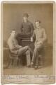 St Clair Kelburn Mulholland Stobart; Edward Grey, 1st Viscount Grey of Fallodon and an unknown man, by Hills & Saunders - NPG x197314