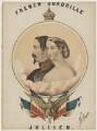 Napoléon III, Emperor of France; Eugénie, Empress of France ('Eugénie de Montijo'), by John Brandard, printed by  M & N Hanhart - NPG D42821