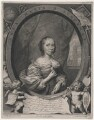 Anna Maria van Schurman, by Cornelis van Dalen the Younger, published by  Frederick de Wit, after  Cornelius Johnson - NPG D43045