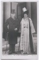 Joe Chamberlain; Mary Endicott Carnegie (née Endicott) (formerly Chamberlain), by Frederick James Roulston MacFadyen, published by  Rotary Photographic Co Ltd - NPG x197745
