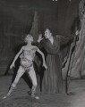 Margaret Leighton as Ariel and Sir Ralph Richardson as Prospero in 'The Tempest', by Central Press - NPG x182407