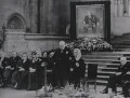 Winston Churchill giving his 80th birthday speech at Westminster Hall, by Jack Esten, for  Reuters - NPG x199077