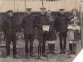Group including Hubert Ion Wetherall Hamilton, Herbert Kitchener, 1st Earl Kitchener, William Riddell Birdwood, 1st Baron Birdwood, Raymond John Marker and Francis Aylmer Maxwell, by Unknown photographer - NPG x193210