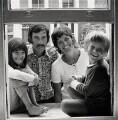 Caitlin Davies; Hunter Davies; Margaret Forster; Jake Davies, by Anthea Sieveking - NPG x199133