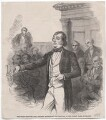 'The Bucks election - Mr Disraeli addressing the electors in the County Hall, Aylesbury', by Frederick James Smyth - NPG D45902